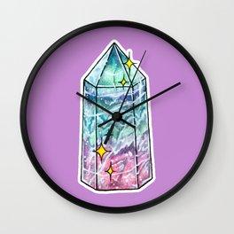 Fluorite Crystal Point Wall Clock