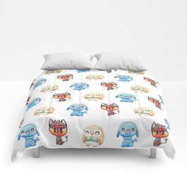 Rowlet, Litten and Popplio - Starters - Pocket Monsters Comforters