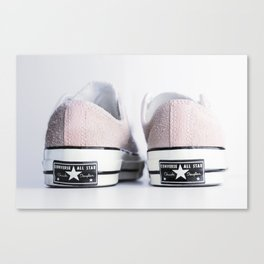 My pink suede shoes Canvas Print