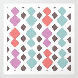 Desert Blocks Art Print