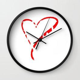 Best Mummy Ever Love Heart Mother's Day T-Shirt Wall Clock