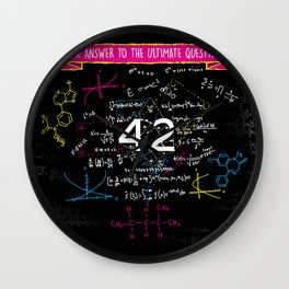 The answer to the ultimate question 42 Wall Clock