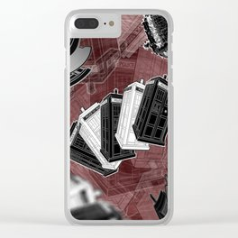 Wibbly Wobbly (Timey Wimey) Clear iPhone Case