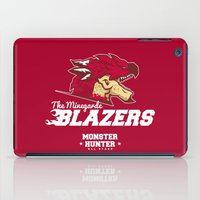 monster hunter iPad Cases featuring Monster Hunter All Stars - The Minegarde Blazers by Bleached ink