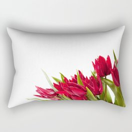 Red tulips bouquet sprinkled Rectangular Pillow