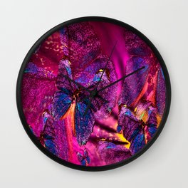 Butterflies Celebration In Pink And Purple Colors #decor #society6 Wall Clock