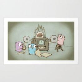 Gophers Art Print