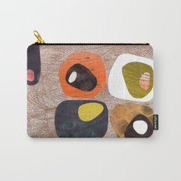 Retro Love Warm Browns Carry-All Pouch