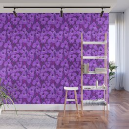 Puya Flowers Botanical Floral Pattern Violet Orchid Wall Mural