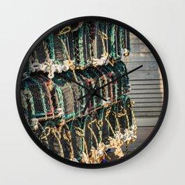 Crab pots and lobster traps Wall Clock