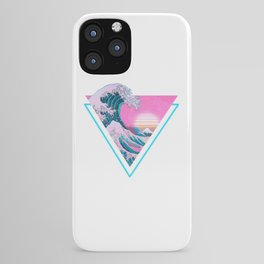 Vaporwave Aesthetic 90's Great Wave Off Kanagawa iPhone Case