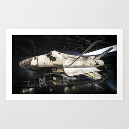 Space Shuttle Atlantis Art Print