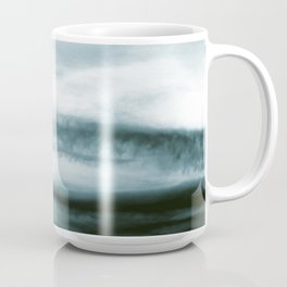 WHITE & BLUE & BLACK TOUCHING #3 #abstract #decor #art #society6 Coffee Mug
