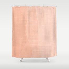 A Touch Of Peach - Soft Geometric Minimalist Shower Curtain