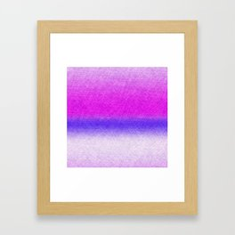 Abstract lilac blue pink geometrical ombre Framed Art Print