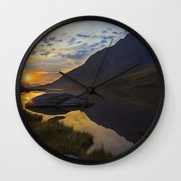 Tryfan Sunrise Wall Clock