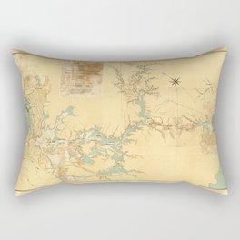 Map of the Proposed Panama Canal (1906) Rectangular Pillow