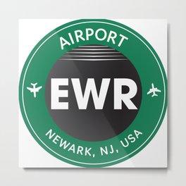 EWR NEWARK Metal Print