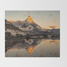 Swiss Alps Journey Throw Blanket