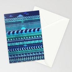 Aqua   Tribal Stationery Cards