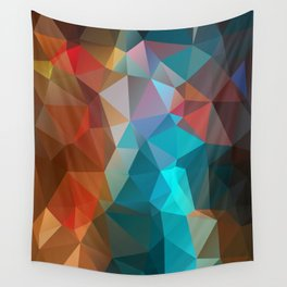 Abstract bright background of triangles polygon print illustration Wall Tapestry
