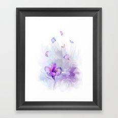 Iris's flowe Framed Art Print
