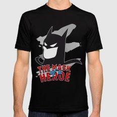 the mask of a heroe: bat-man Mens Fitted Tee Black MEDIUM