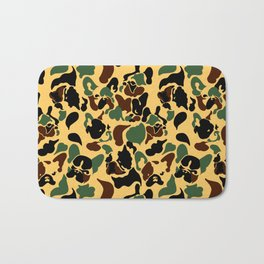 Frenchie Camouflage Bath Mat