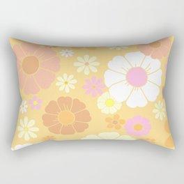 Groovy 60's Mod Pastel Flower Power Rectangular Pillow