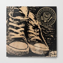 Ramones Shoes Metal Print