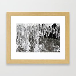 Icicles gallery. Framed Art Print