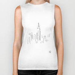 Empire State Building Art Print Biker Tank
