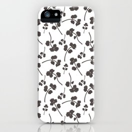 Outline herb and spice pattern iPhone Case