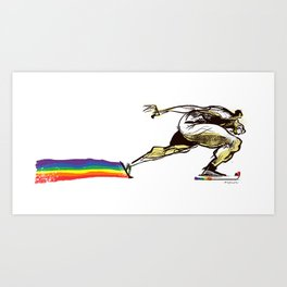 The Speed Skater Art Print