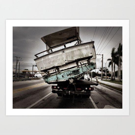ABANDON SHIP! Art Print
