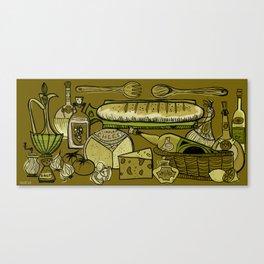 My Mid-Century Kitchen Canvas Print