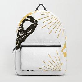 Boho Sun Moon Hands Backpack