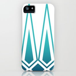 Mid Century Muse: Norms in Teal iPhone Case