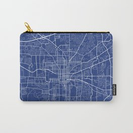 Tallahassee Map, USA - Blue Carry-All Pouch