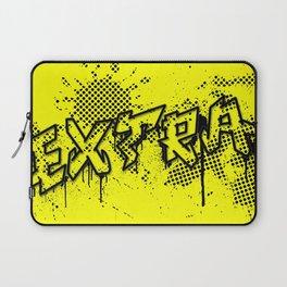 extra splash yellow and black grafitti design Laptop Sleeve