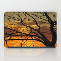 jewish iPad Cases featuring Sunset Tree by Brown Eyed Lady