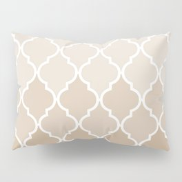 Pastel elegant brown cream quatrefoil pattern Pillow Sham