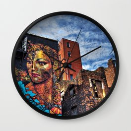 Colourful MANchester Wall Clock