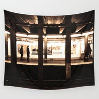 jewish Wall Tapestries featuring Rush Hour by Brown Eyed Lady