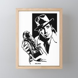 The Maltese Falcon by Peter Melonas Framed Mini Art Print