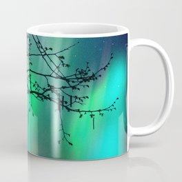 Tree Branch and Aurora Borealis Night Sky Coffee Mug