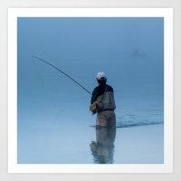 mystic fly fishing Art Print