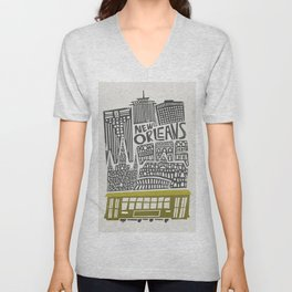 New Orleans City Cityscape Unisex V-Neck