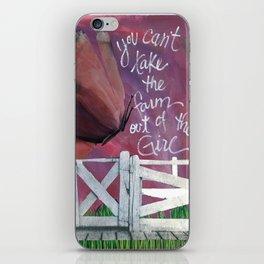 Farm Girl by Seattle Artist Mary Klump iPhone Skin