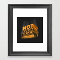 Not a single fox was given that day Framed Art Print